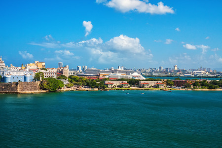 City and cruise ship port of San Juan, Puerto Rico in the Caribbean