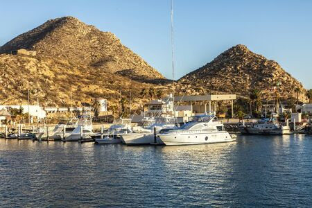 cabo: Marina with luxury yachts in Cabo San Lucas, Mexico