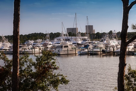 destin: Luxury yacht marina and harbor in the Destin, Florida