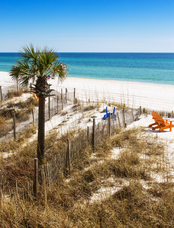 fl: Panama City Beach, located in the panhandle of Florida. Stock Photo