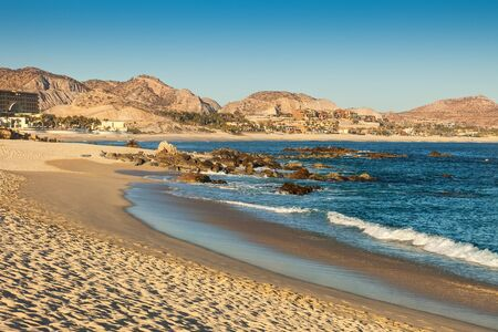 los cabos: The coastline of the Sea of Cortez, the desert and the mountains in Cabo San Lucas, Mexico