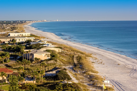 destin: Coastline and beach in Destin, Florida Stock Photo