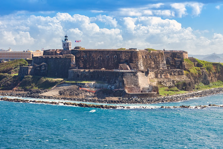 El Morro Fortification in San Juan, Puerto Rico Editorial