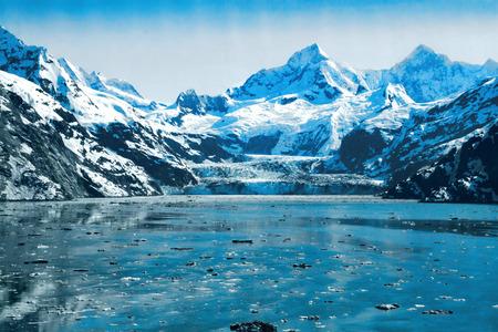 Blue Ice Glaciers and waters in Glacier Bay, Alaska