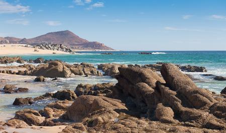 lucas: Rocky beach along the Sea of Cortez in Cabo San Lucas, Mexico Stock Photo