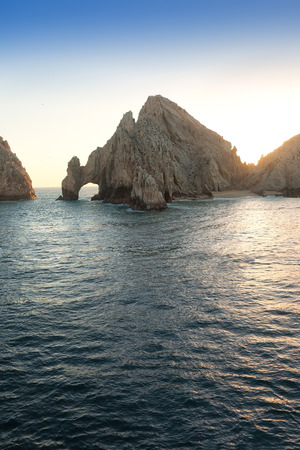 lucas: Lands End Rock formatation and natural arch in Cabo San Lucas, Mexico Stock Photo