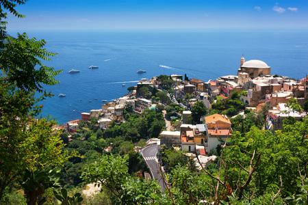 tyrrhenian: Positano is a cliffside village on southern Italys Amalfi Coast on the Tyrrhenian Sea.