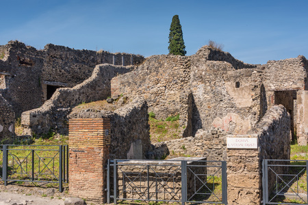 suffered: Pompeii, once a Roman city, suffered after the catastrophic eruption of Mt. Vesuvius in 79 C.E.
