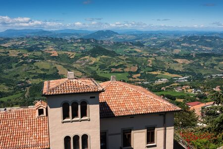san marino: View of Apennine Mountains from the Republic of San Marino