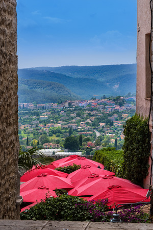 vence: View of the countryside in Saint-Paul-de-Vence, France