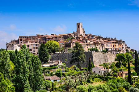 Saint Paul de Vence, a historic village in Nice, France Standard-Bild