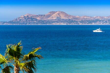 Scenic view from Los Cabos Beach of the Sea of Cortez in Mexico