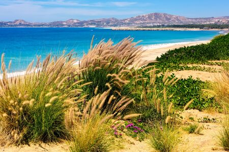 Coastline and beach in Cabo San Lucas, Mexico Stock Photo