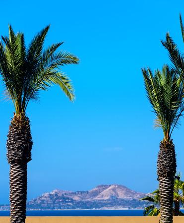 Coastline and mountain range in Cabo San Lucas, Mexico