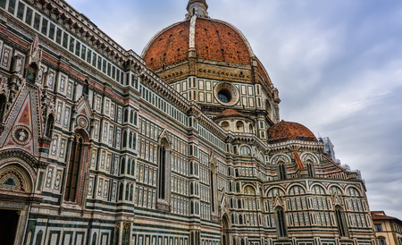 The Cattedrale di Santa Maria del Fiore (St. Mary of the Flower) in the Piazza del Duomo, Florence, Italy Stock Photo