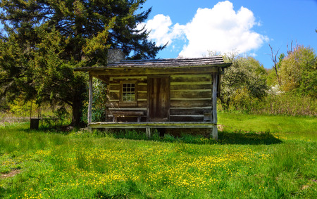 Fergusons Cabin, in the Smoky Mountains National Park, Maggie Valley, North Carolina