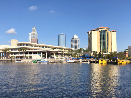 Harbour Island is an island neighborhood within the city limits of Tampa, Florida and the sub-district within Downtown Tampa Stock Photo