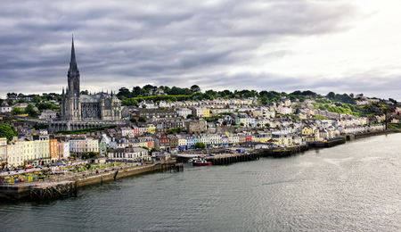 Quaint village and seaport of Cobh, in Cork County, Ireland. Stock Photo