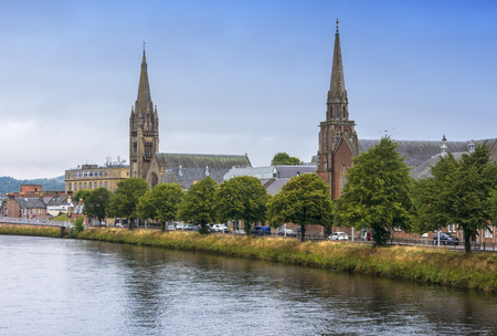 The city of Inverness on the shores of the River Ness.
