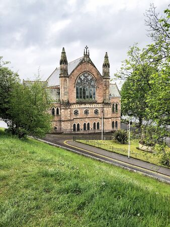 The Ness Bank Church rests on the banks of the River Ness in Inverness, Scotland