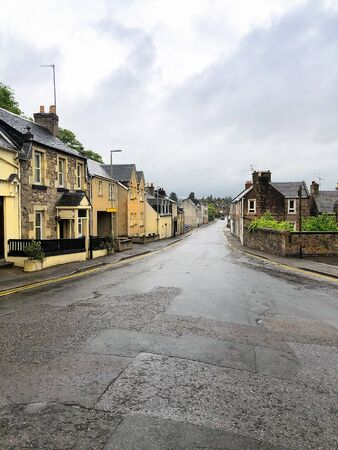 Empty street in Inverness, Scotland