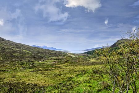 Scenic view of the landscape of the Isle of Skye, Scotland Imagens