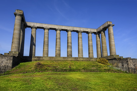The National Monument of Scotlands, sits on the top of Calton HIll in the city of Edinburgh.