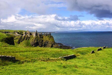 Dunluce Caste, a medieval Irish castle on the Amtrim Coastline