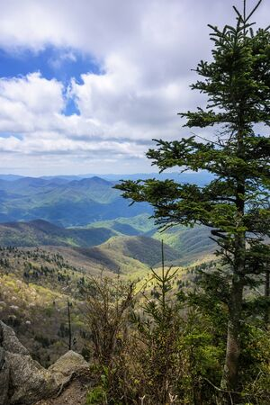 Scenic view  of Smoky and Blue Ridge Mountains in North Carolina