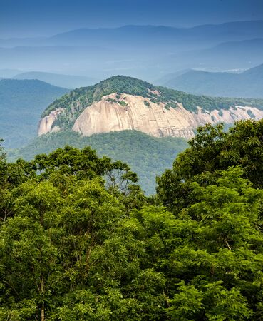 Scenic view of Looking Glass Rock in North Carolina
