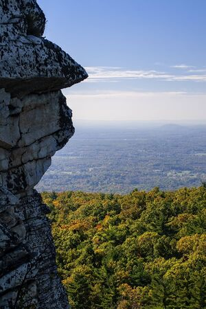 Landscape view of the Hudson Valley in upstate New York.