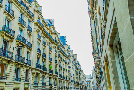 Roofs and buildings in the streets of Paris. France