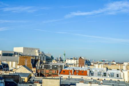 cityscape roofs of Paris photo