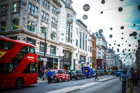 oxford street: Oxford street in London