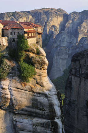 The famous hanging monastery of Meteora, Greece