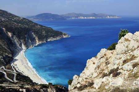 The beautiful beach of Myrtos, Kefalonia, Greece Stock Photo