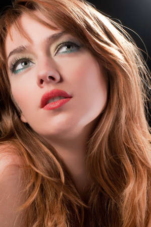 Red head beauty with dreamy look