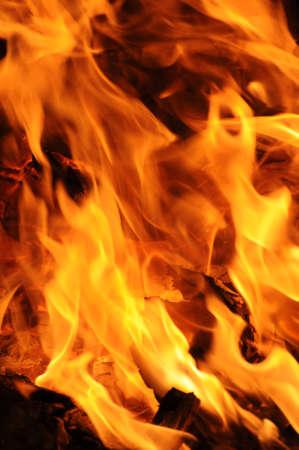 Hot burning flames burst for fire backgrounds