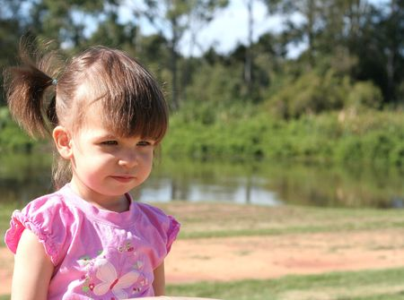 Young child at the park