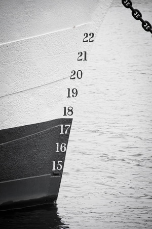 Numbers on a boat photo