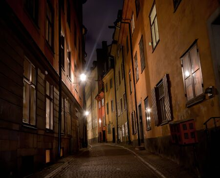 A small alley in Stockholm Stock Photo
