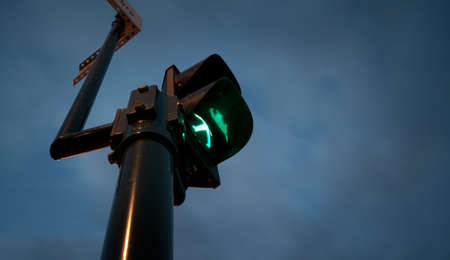 A traffic light with a green man Stock Photo - 9951720