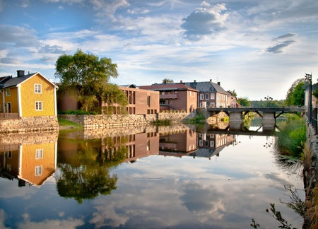 The famous river in Arboga, Sweden Stock Photo