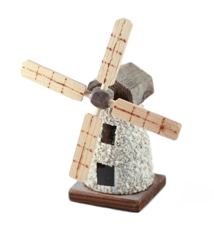 A windmill on a white background