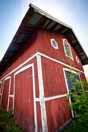 A red barn on a farm in Stockholm, Sweden Stock Photo - 15518566
