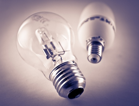 Two low energy light bulbs