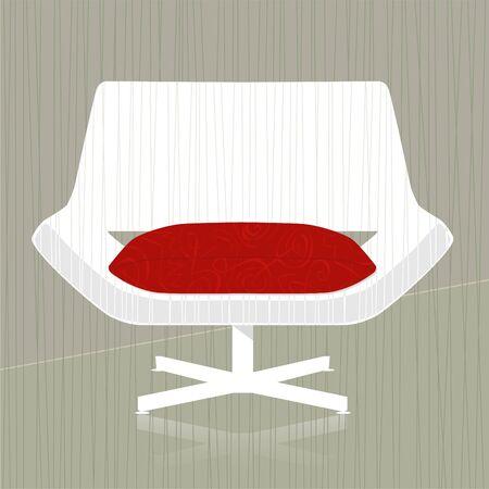 Stijlvolle vintage  retro design van de stoel element; eenvoudig-edit gelaagde bestand maakt het veranderen van de kleur stoel eenvoudig.