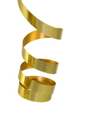 Gold rizado cinta aisladas  Foto de archivo - 1921942