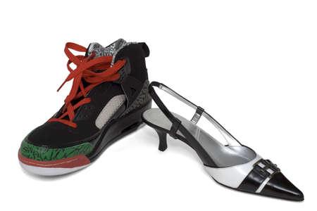 派手な女性靴、男性 backetball 靴