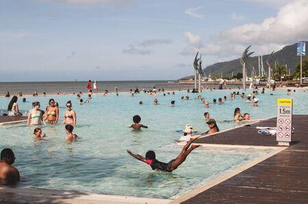 public swimming pool in Cairns, Australia Editorial